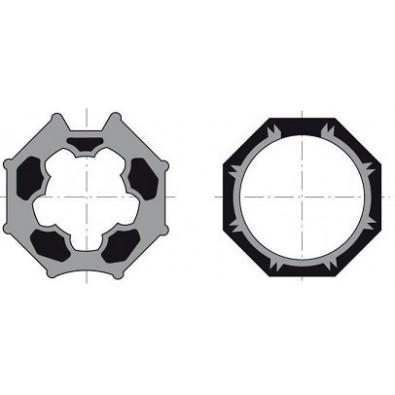 Adaptador de motor a eje de 60mm octogonal