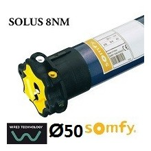 Motor persiana SOMFY SOLUS vía cable 8NM/12