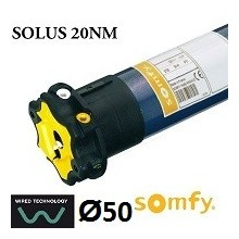 Motor persiana SOMFY SOLUS vía cable 20NM/12