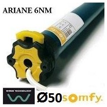 Motor SOMFY ARIANE vía cable semiautomático 6NM/17