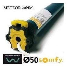 Motor SOMFY METEOR vía cable semiautomático 20NM/17