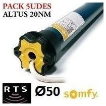 PACK 5 UNIDADES: Motor Somfy ALTUS RTS vía radio 20/12