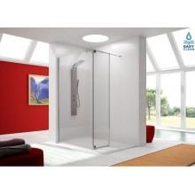 Mampara de ducha fija + puerta abatible Serie FRESH(FR423)