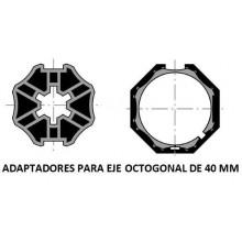 Adaptador de motor a eje de 40mm octogonal