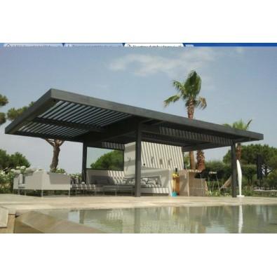 prgola bioclimtica de aluminio solisysteme - Pergola De Aluminio
